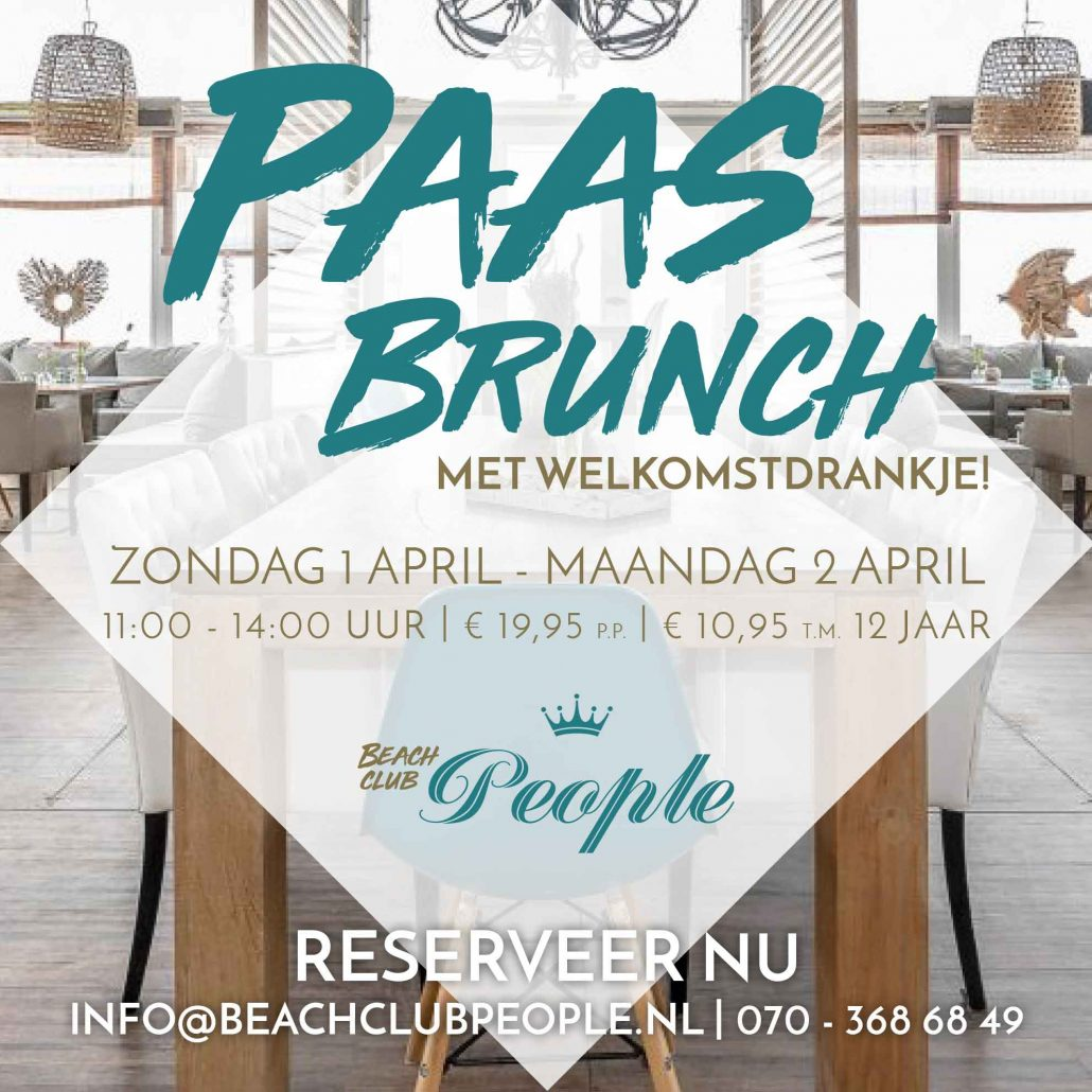 Paasbrunch beachclub people kijkduin